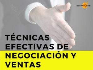 Curso: Técnicas efectivas de negociación y ventas